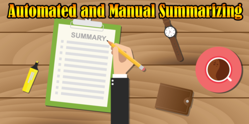 Difference between Automated and Manual Summarizing